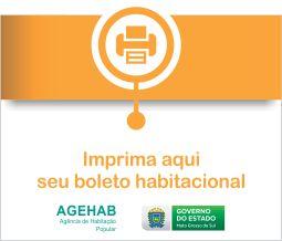 Imprima aqui o seu boleto habitacional - AGEHAB - Governo de Mato Grosso do Sul